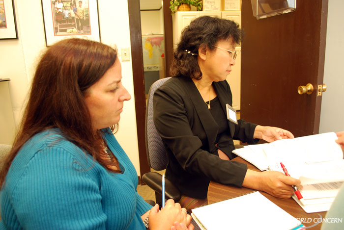 Humanitarian Naw Rebecca Htin received her orientation at World Concern's Seattle headquarters in July.