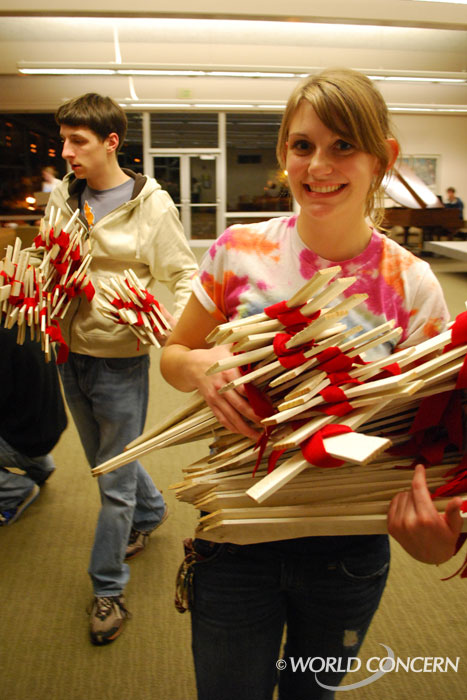 Alyssa Musgrave leads an SPU group determined to raise awareness about AIDS and other issues related to global poverty.