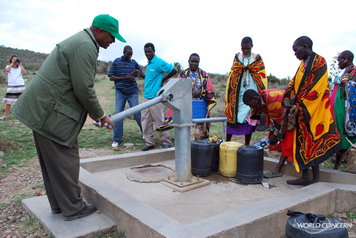 Water wells in Kenya installed by humanitarian organization World Concern provide hope to communities in Kenya suffering from water-borne disases. World Water Day brings awareness to the problem.