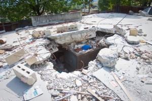 Jillian Thorp's collapsed house.