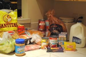 A week's worth of groceries.