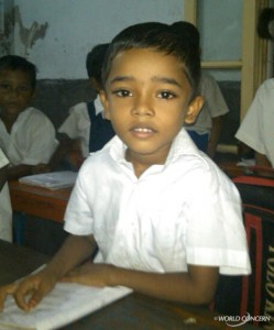 A student in Bangladesh.