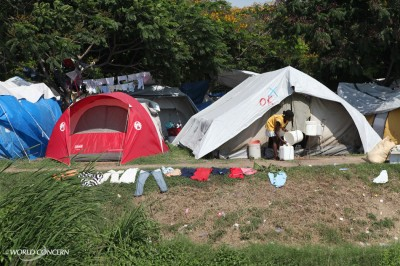 tents in haiti