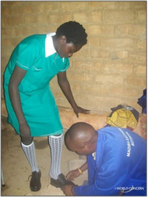 An AIDS orphan in Zambia