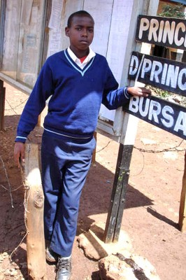 Japheth, a Kenyan AIDS orphan.