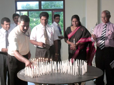 Cancles being lit in Sri Lanka