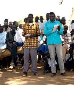 Harun at a community meeting.