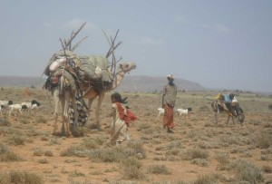 A nomadic family in Somalia.
