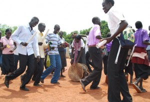 Dancing in South Sudan.