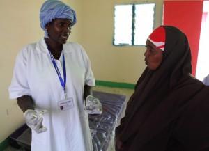 Medical clinic in Somalia.