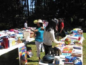 A church yard sale helps famine victims
