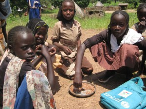 School feeding program in South Sudan.