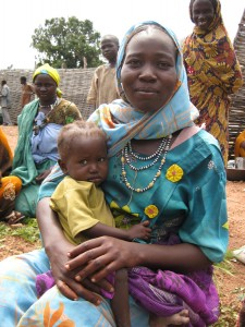 Mom and baby in Raja, South Sudan.