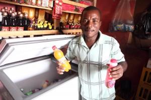 A microloan recipient in Haiti