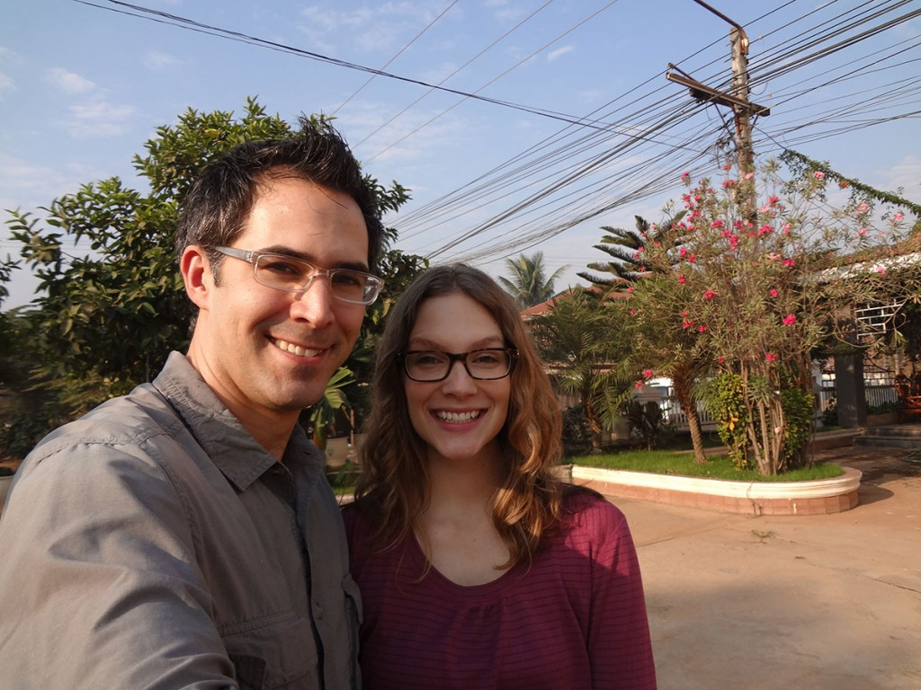 Derek and Kathryn in Laos.