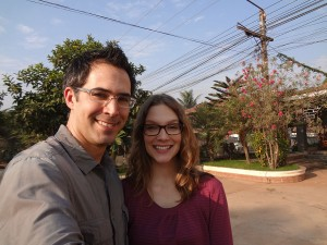 Derek and Kathryn in Laos.