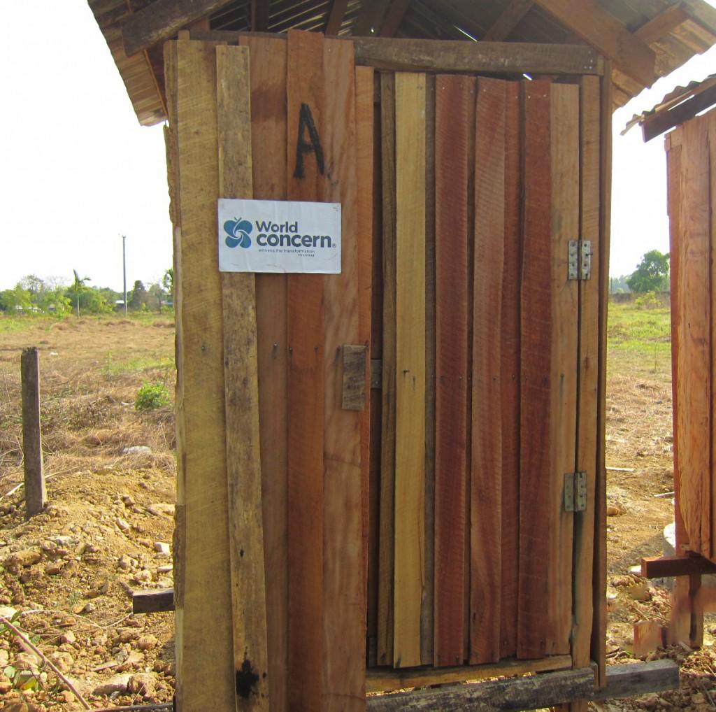 New latrine in Mynamar camp.