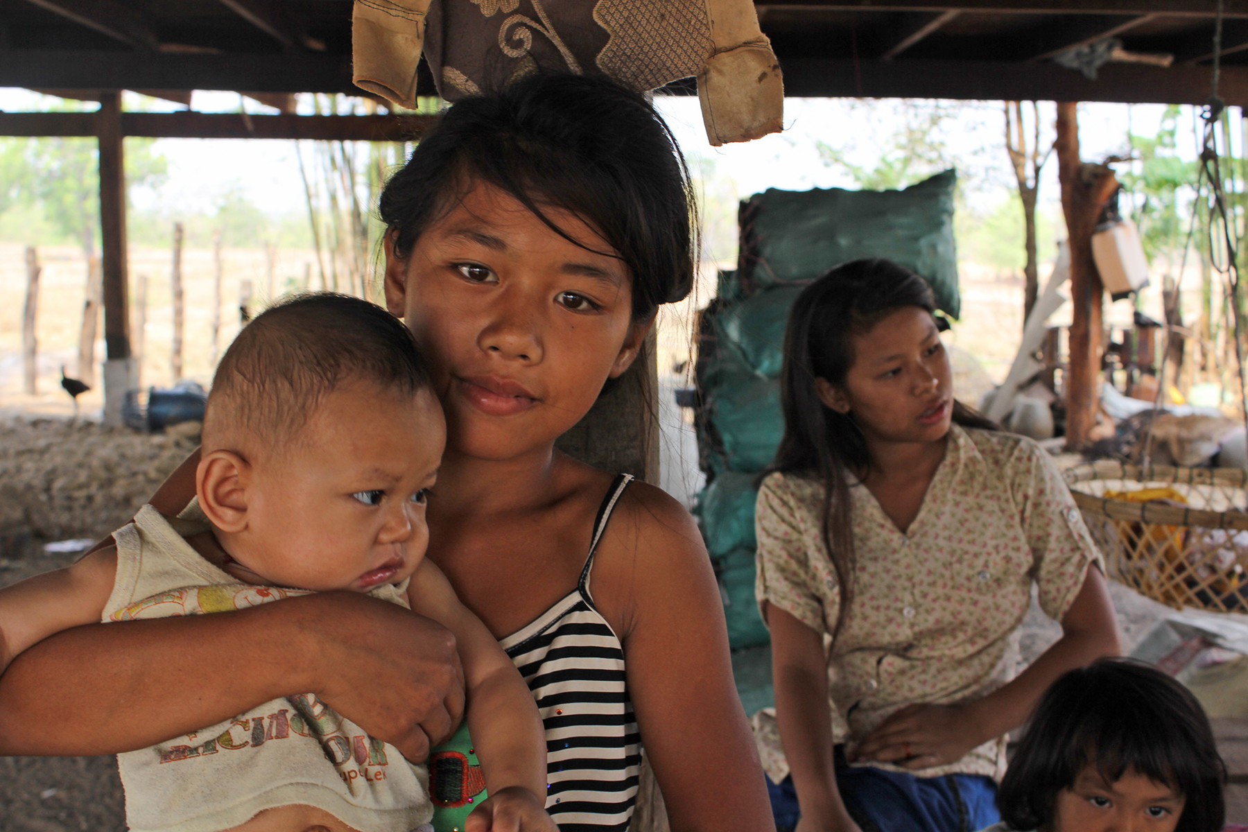 Tong and Duangmany, two young girls now safe from traffickers