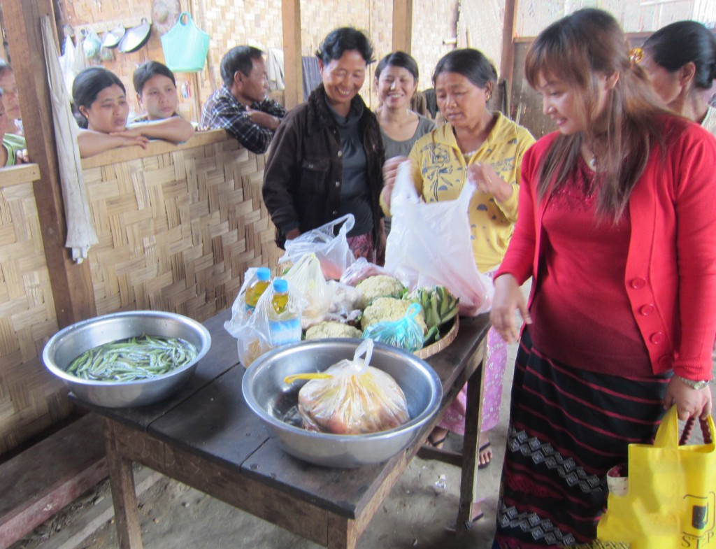 Nutritious food in camps.