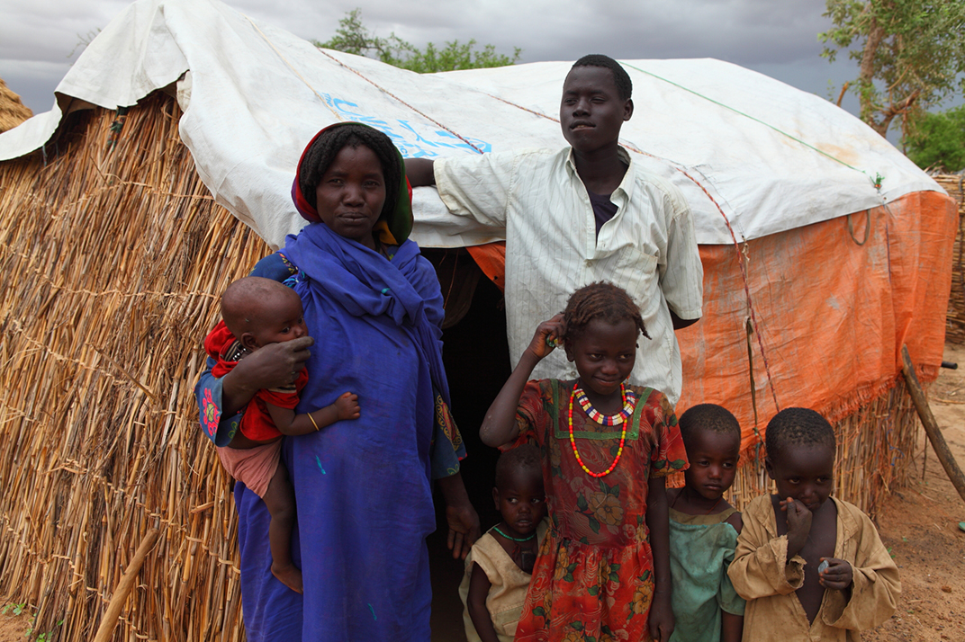 IDP family in camp