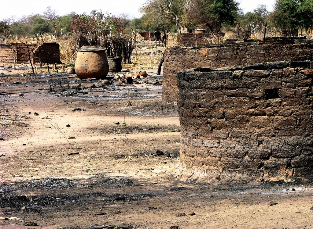 Village destroyed by fire