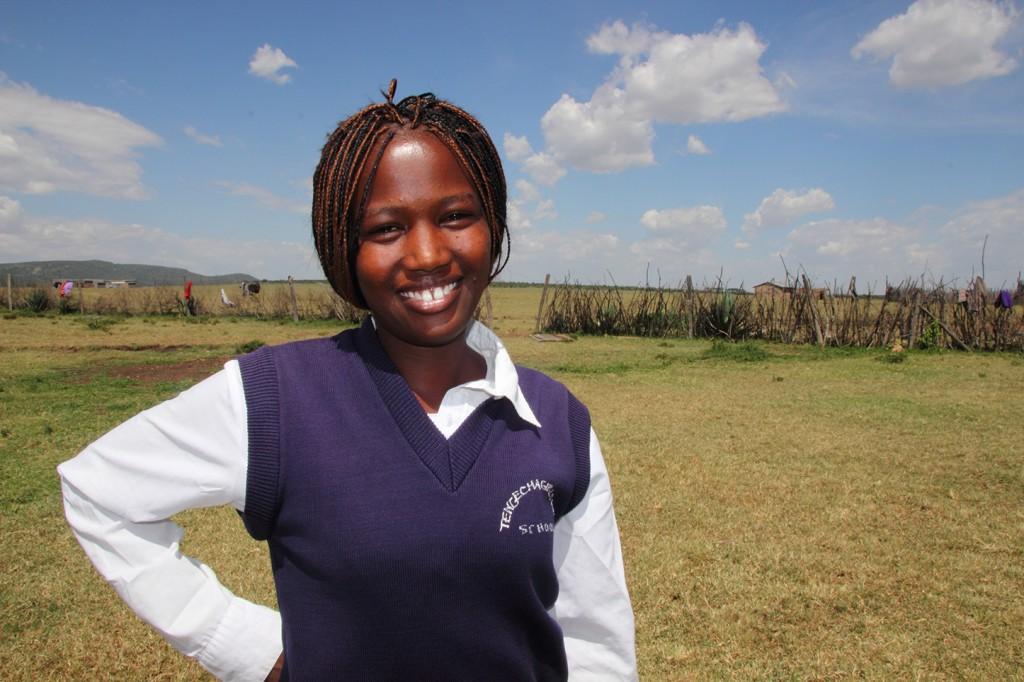 Christine in Kenya.