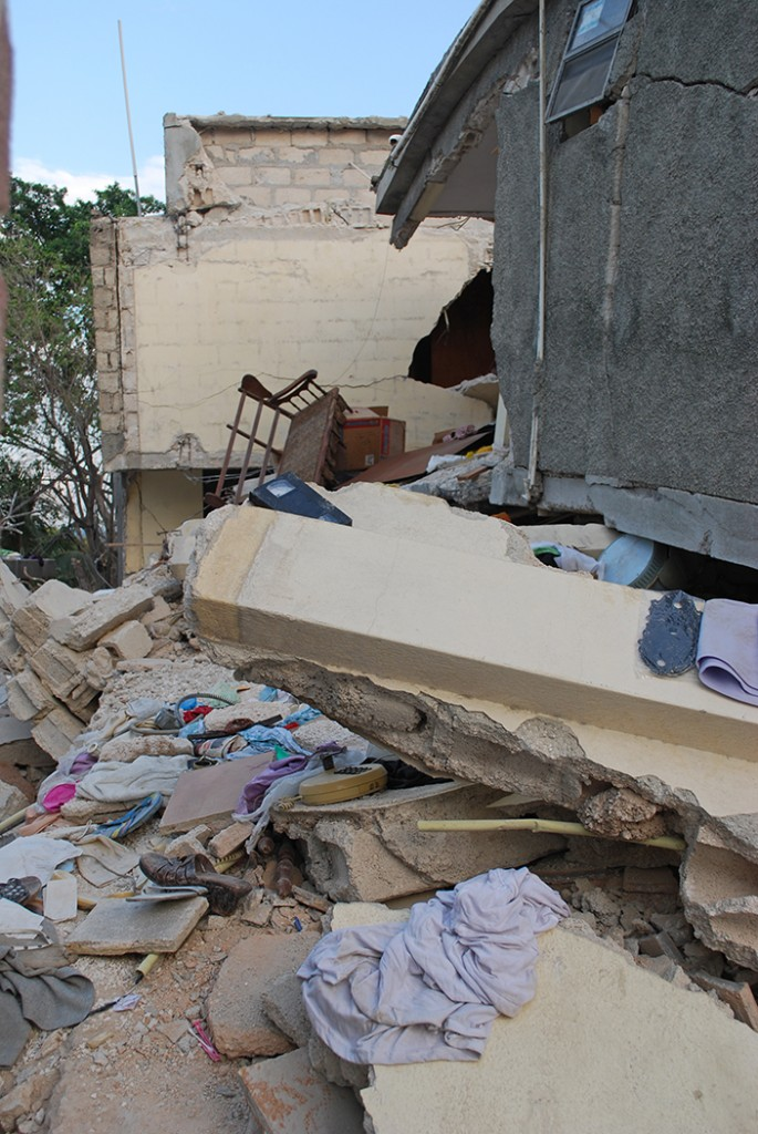 Haiti earthquake - collapsed building