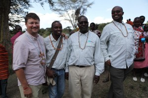 ExOfficio GM Steve Bendzak with World Concern staff members in their new shirts.