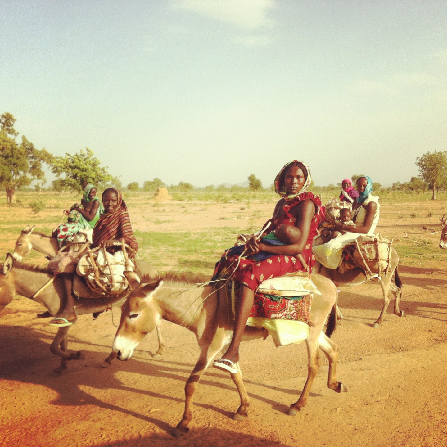 Women journey to gather water.
