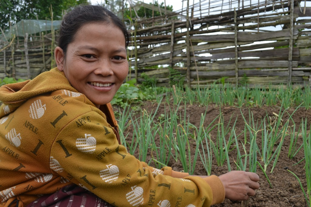 With your help, moms in rural Laos and elsewhere are able to feed their children plenty of nutritious, healthy food.