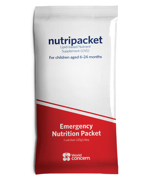 Packed with a life-saving, nutrient-rich paste, Nutripacket's will save a child's life.