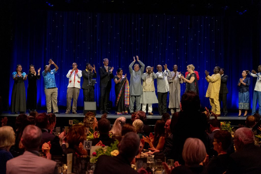 world concern country directors celebrate on stage